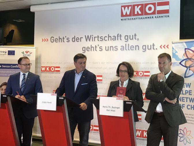Meinrad Höfferer, Jürgen Mandl, Maria Theresia Radinger, Karl Hren (od leve)
