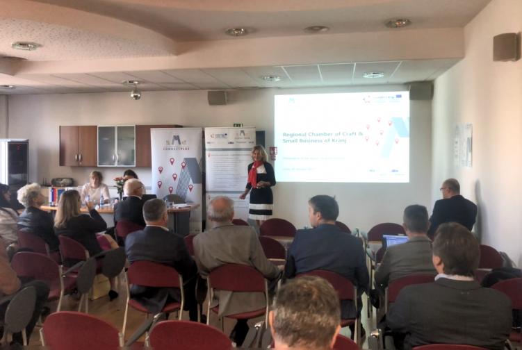 Wirtschaftstreffen von Unternehmern aus vier Ländern in Kranj