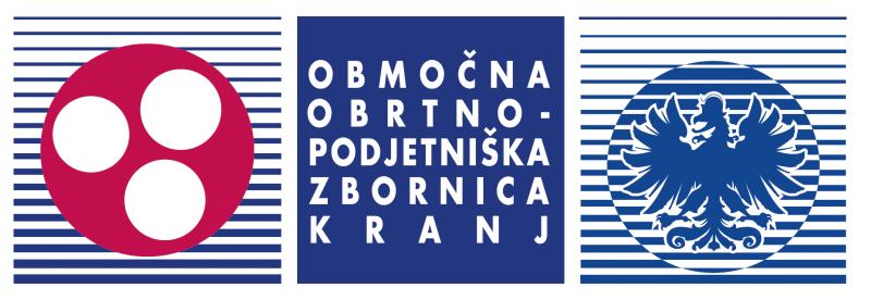 Območna obrtno – podjetniška zbornica Kranj logo ležeč